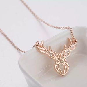 Origami Deer Necklace